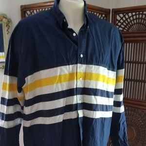 Tommy Hilfiger long sleeve button front large